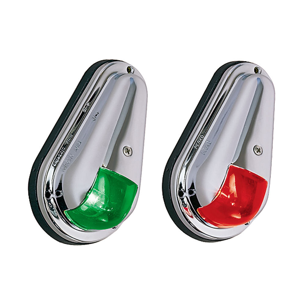 Perko 12V Vertical Mount Side Lights Chrome Plated Brass MADE IN THE USA [0955DP0CHR]