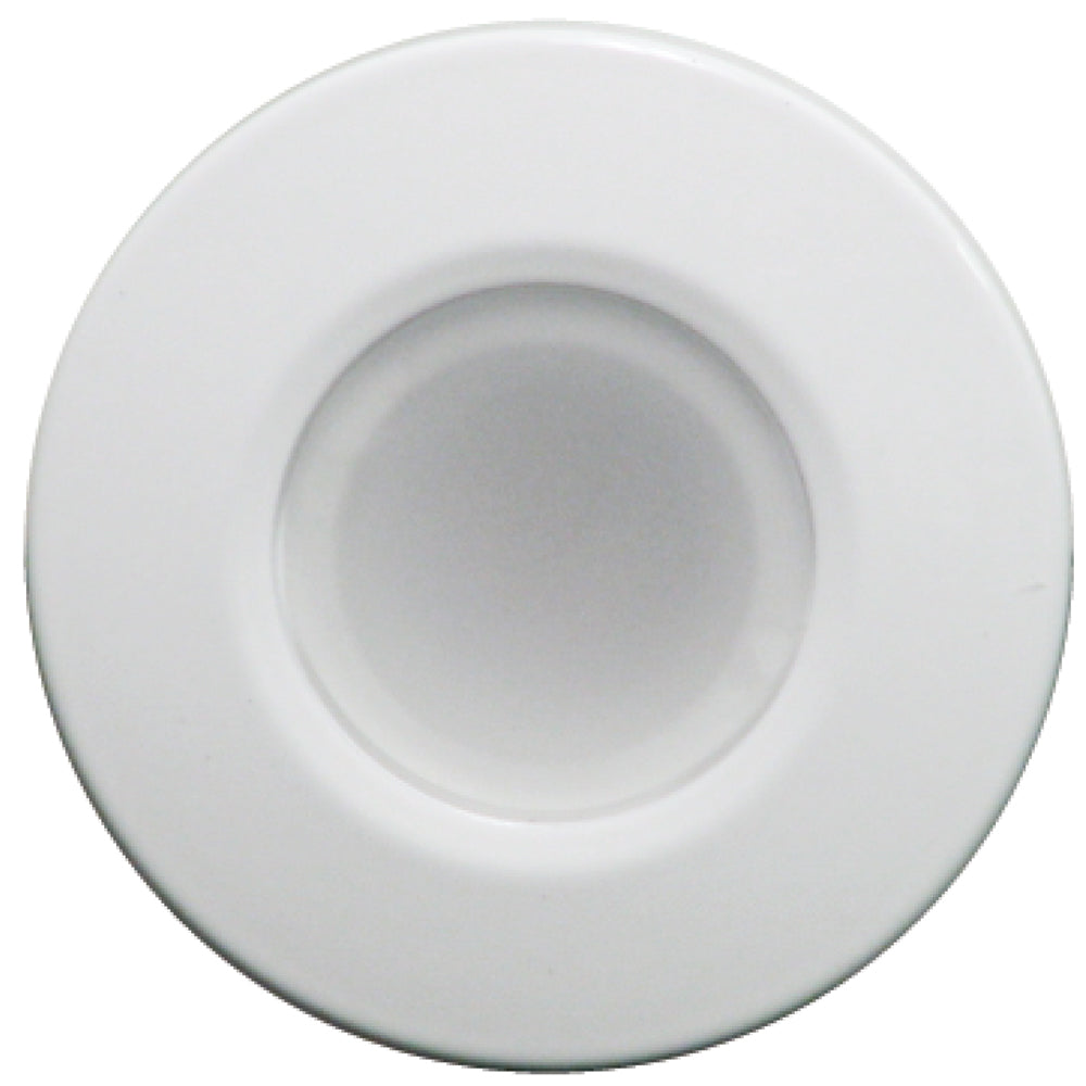 Lumitec Orbit - Flush Mount Down Light - White Finish - 4-Color Blue/Red/Purple/White Non Dimming [112520]