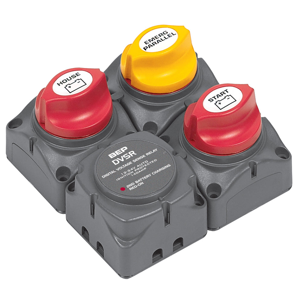 BEP Square Battery Distribution Cluster f/Single Engine w/Two Battery   Banks [716-SQ-140A-DVSR]