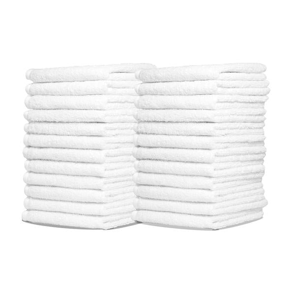 Royal 100% Pure White Terry Cotton Rags EACH - 14 x 17 Commercial Grade and Absorbent