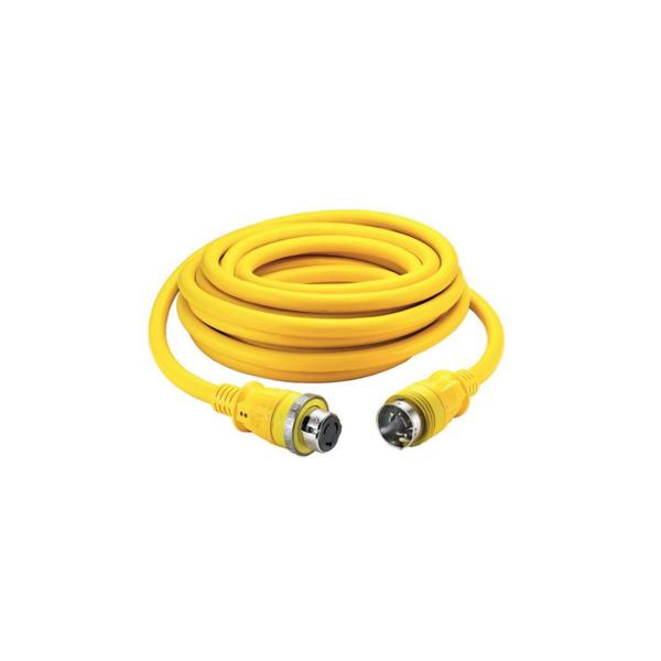 Hubbell 50A/125/250V 50' Shore Power Cable Set Yellow
