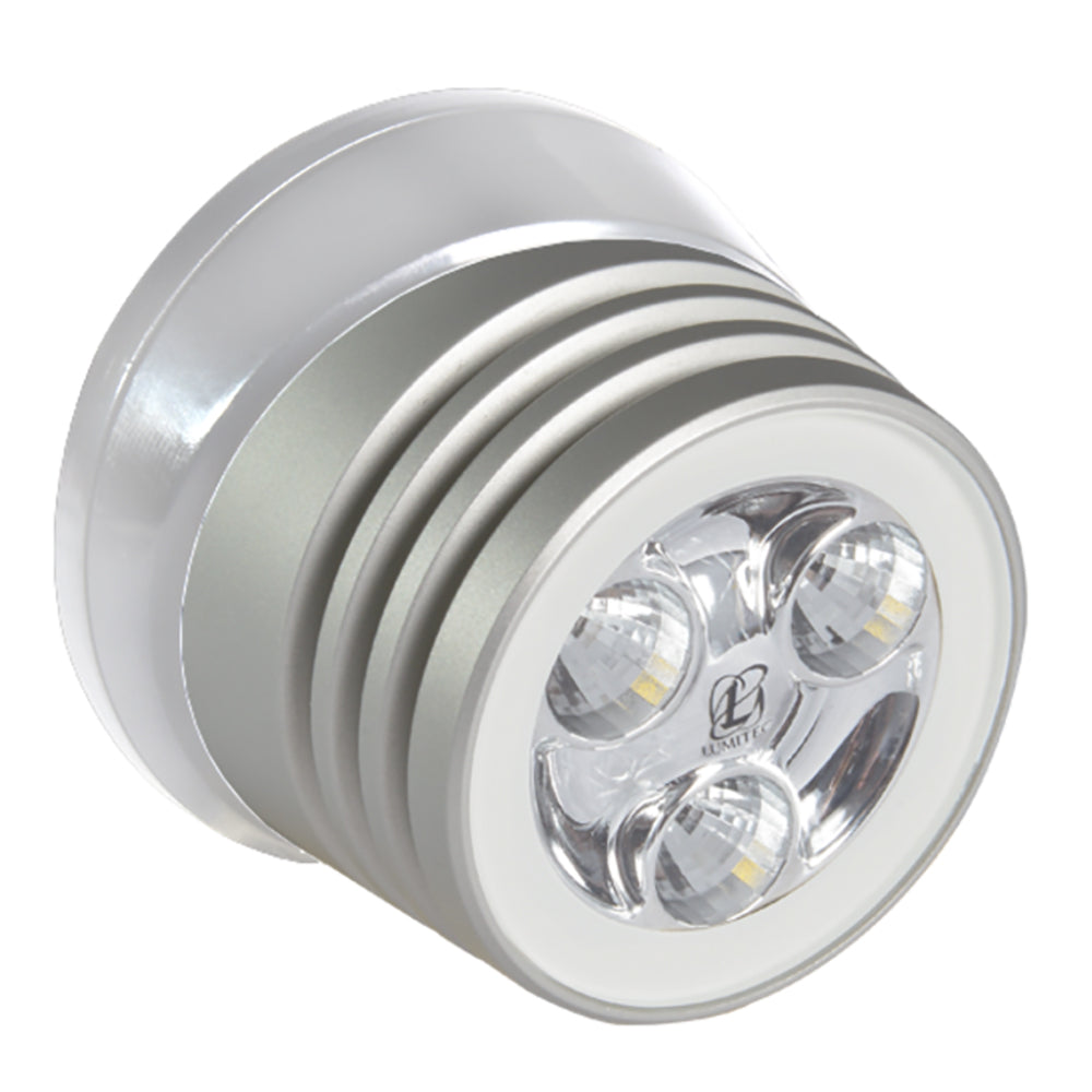 Lumitec Zephyr LED Spreader/Deck Light - Brushed White Base - White Non-Dimming [101325]