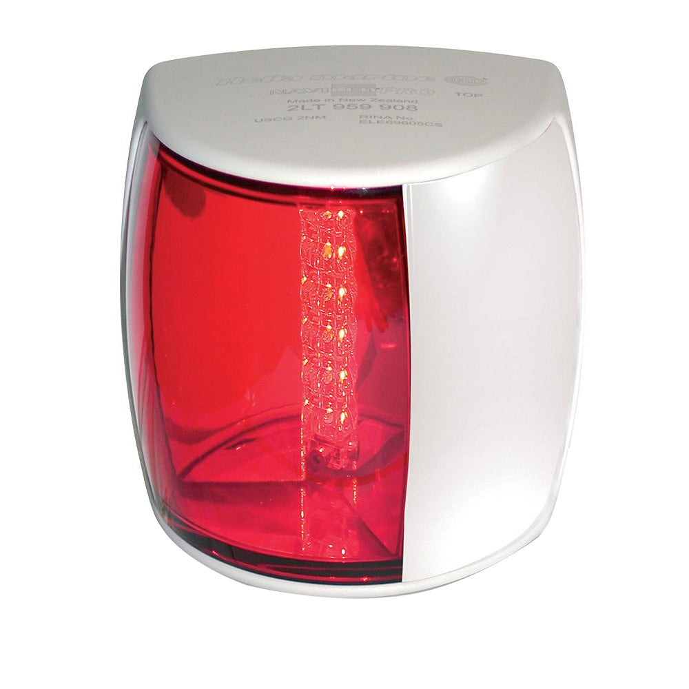 Hella Marine NaviLED PRO Port Navigation Lamp - 3nm - Red Lens/White Housing [959900211]