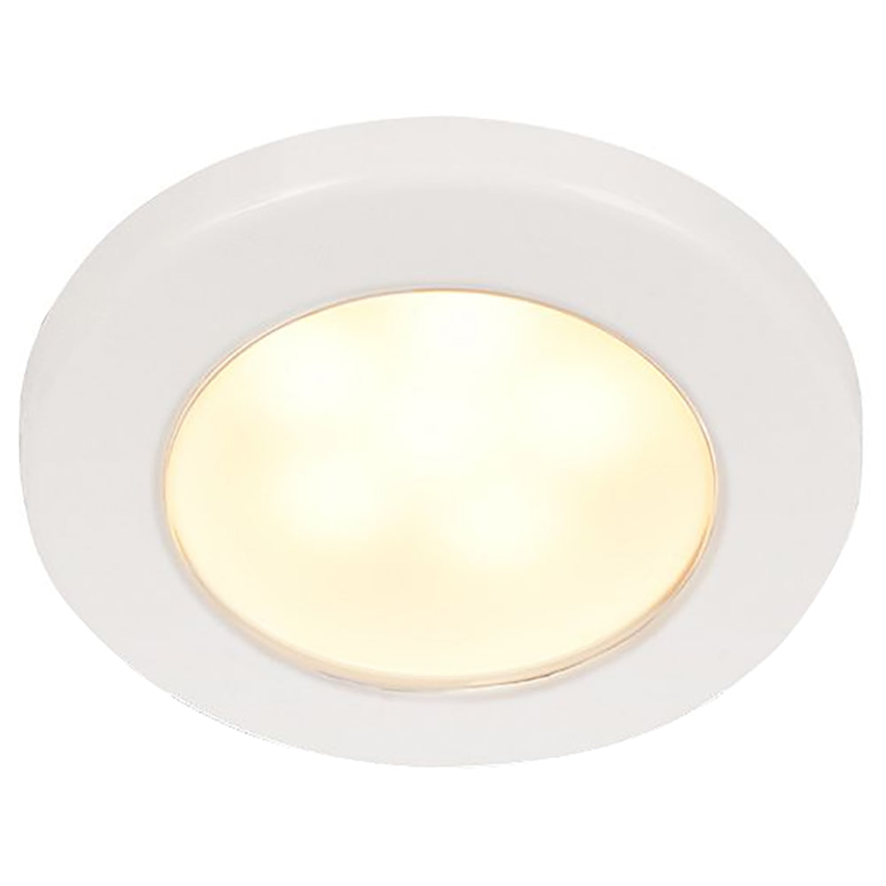 "Hella Marine EuroLED 75 3"" Round Screw Mount Down Light - Warm White LED - White Plastic Rim - 12V [958109011]"