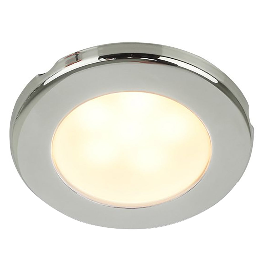 "Hella Marine EuroLED 75 3"" Round Screw Mount Down Light - Warm White LED - Stainless Steel Rim - 24V [958109121]"
