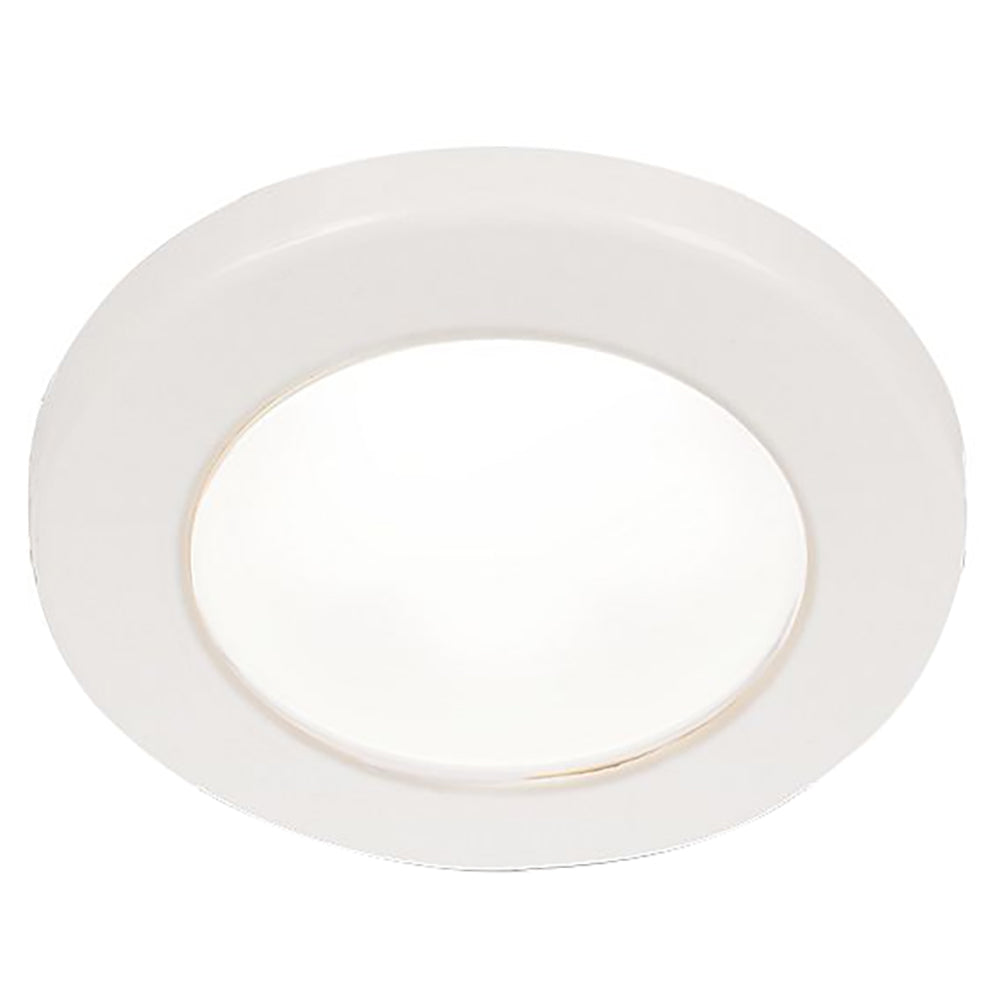 "Hella Marine EuroLED 75 3"" Round Screw Mount Down Light - White LED - White Plastic Rim - 12V [958110011]"