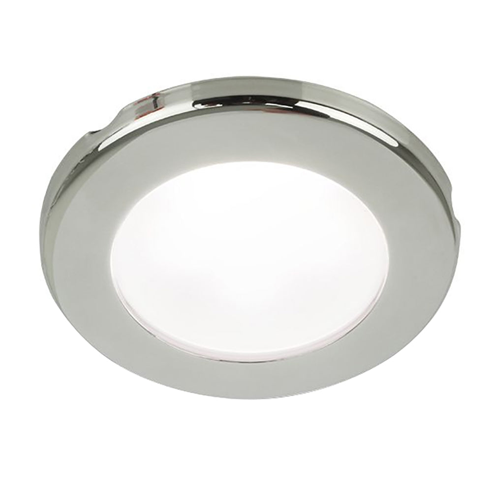 "Hella Marine EuroLED 75 3"" Round Screw Mount Down Light - White LED - Stainless Steel Rim - 12V [958110021]"