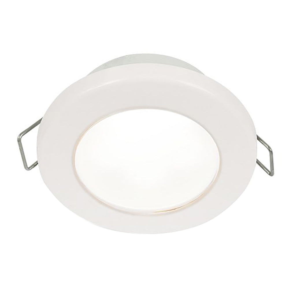 "Hella Marine EuroLED 75 3"" Round Spring Mount Down Light - White LED - White Plastic Rim - 12V [958110511]"