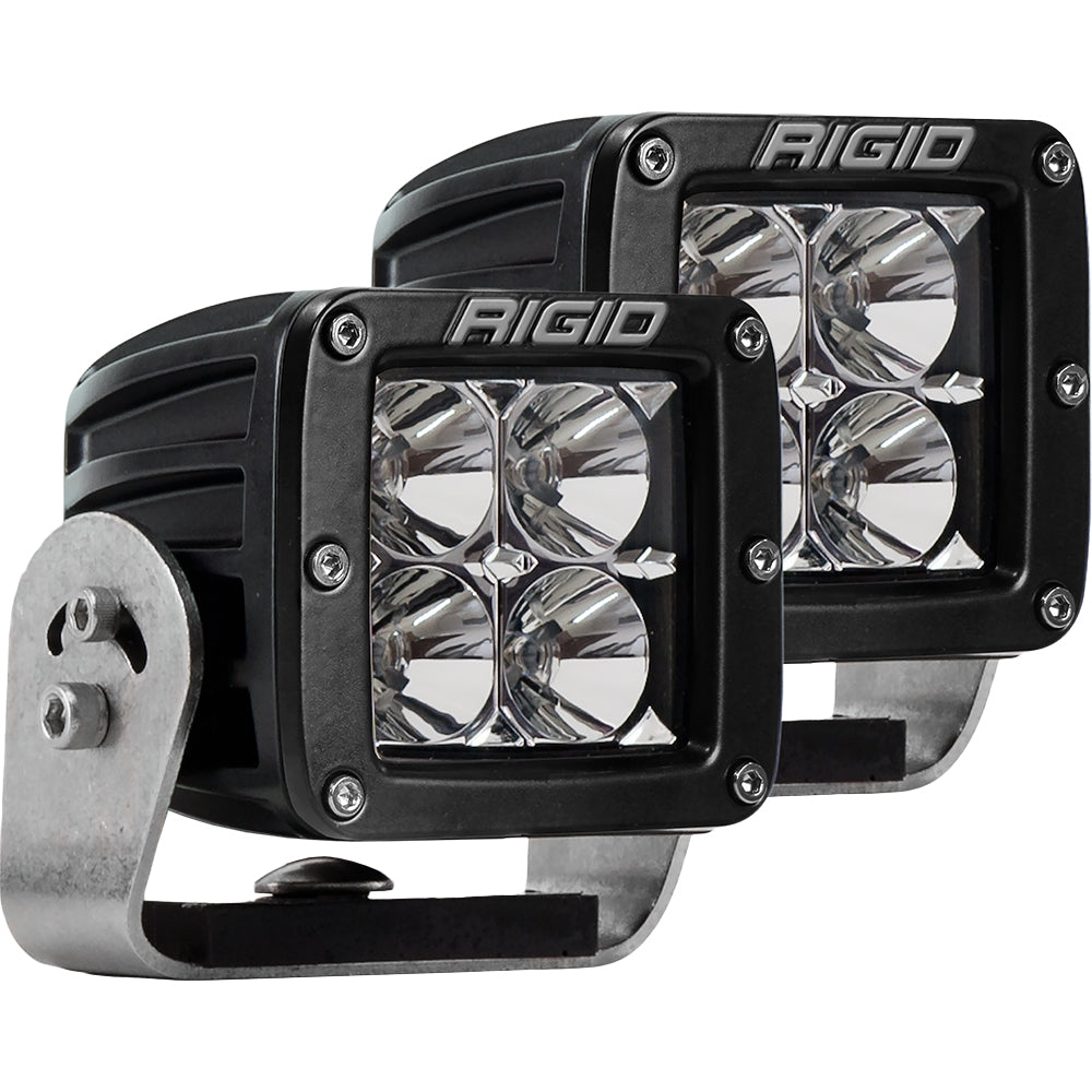RIGID Industries D-Series PRO - Flood LED - Pair - Black [222113]