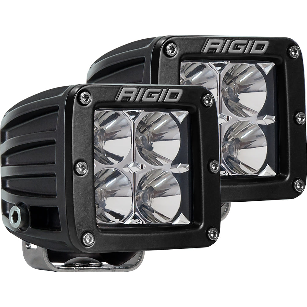 RIGID Industries D-Series PRO Hybrid-Flood LED - Pair - Black [202113]