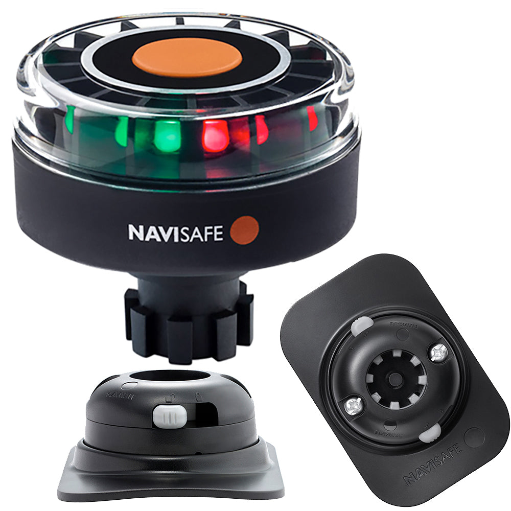 Navisafe Navilight Tricolor 2NM w/Navibolt Base  RIB Mount - Black [342KIT2]