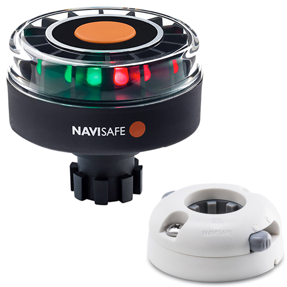 Navisafe Navilight Tricolor 2NM w/Navibolt Base  Horizontal Mount - White [342KIIT5]
