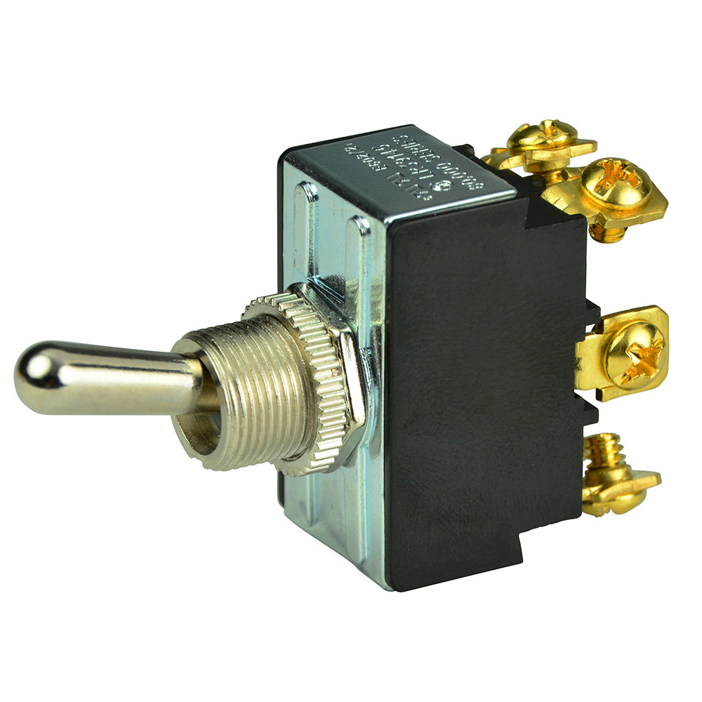 BEP DPDT Chrome Plated Toggle Switch - ON/OFF/ON [1002018]