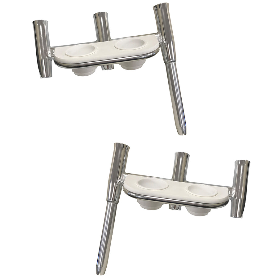 Polished Alumunim Straight Butt Tigress GS Trident Rod Holder 88160-1