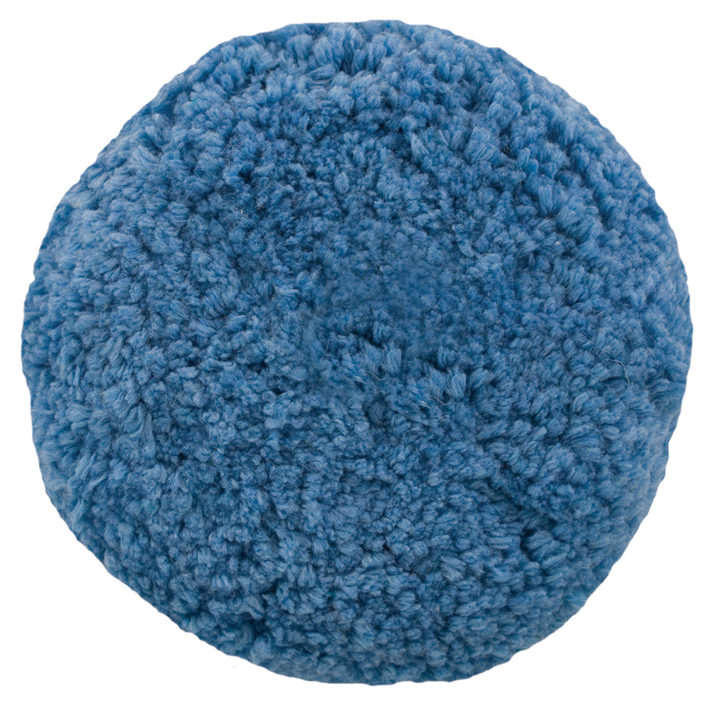 Presta Rotary Blended Wool Buffing Pad - Blue Soft Polish [890144]