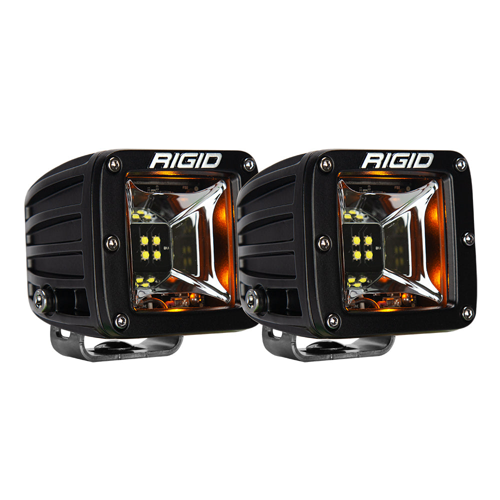 RIGID Industries Radiance Scene Lights - Surface Mount Pair - Black w/Amber LED Backlights [68204]