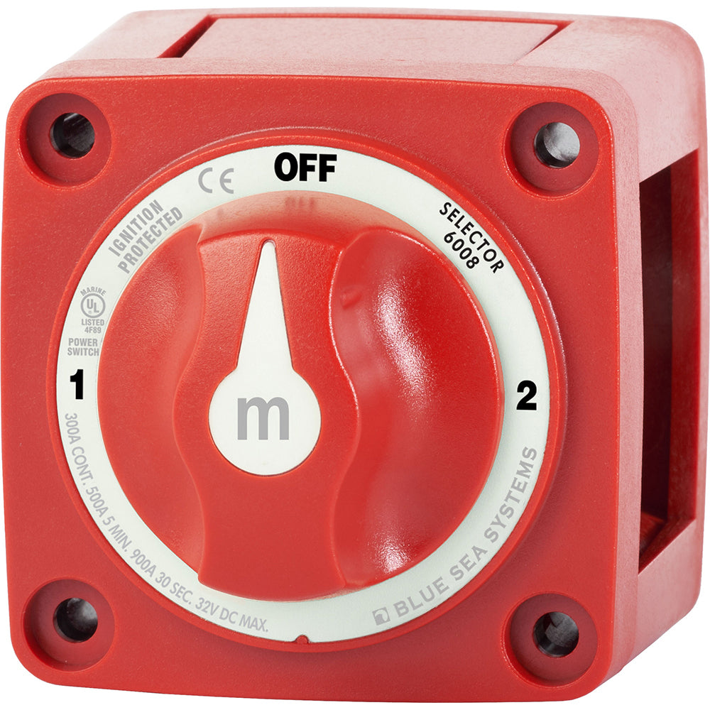 Blue Sea 6008 M-Series Battery Switch 3 Position - Red [6008]