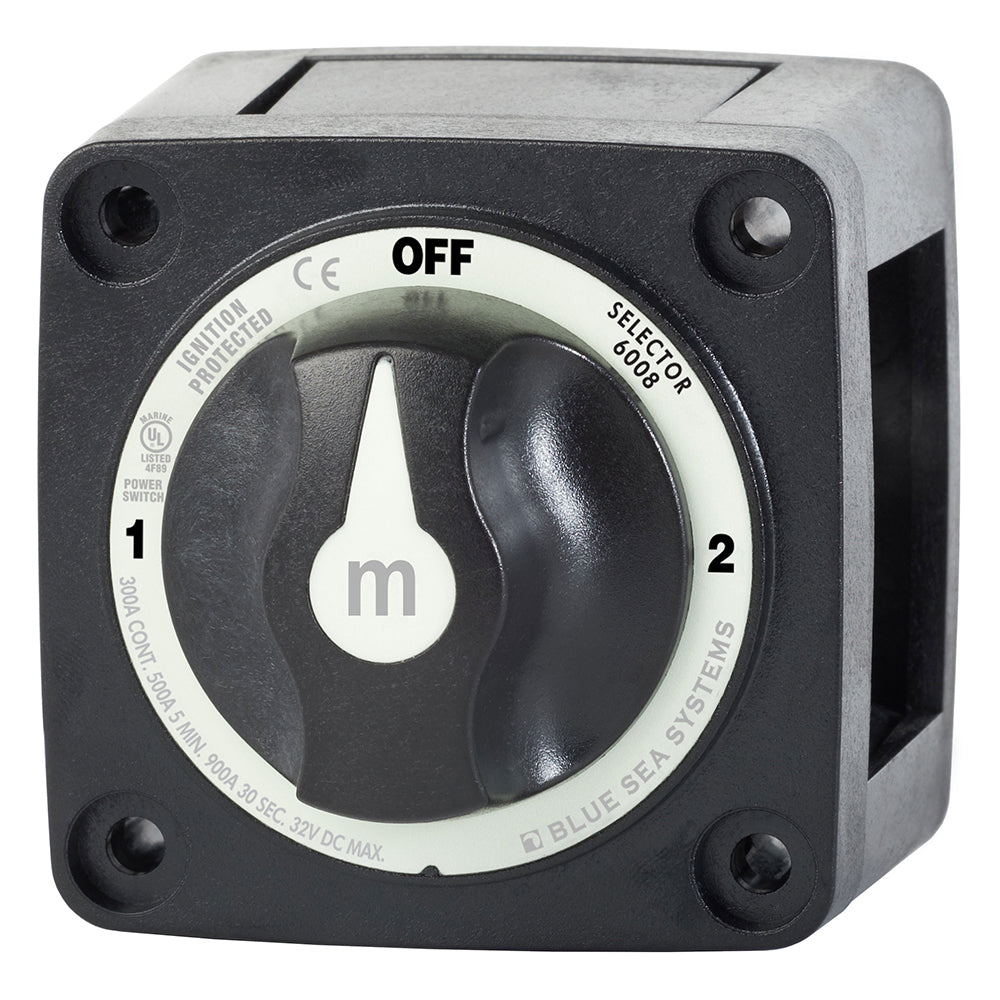 Blue Sea 6008200 m-Series Selector 3 Position Battery Switch - Black [6008200]