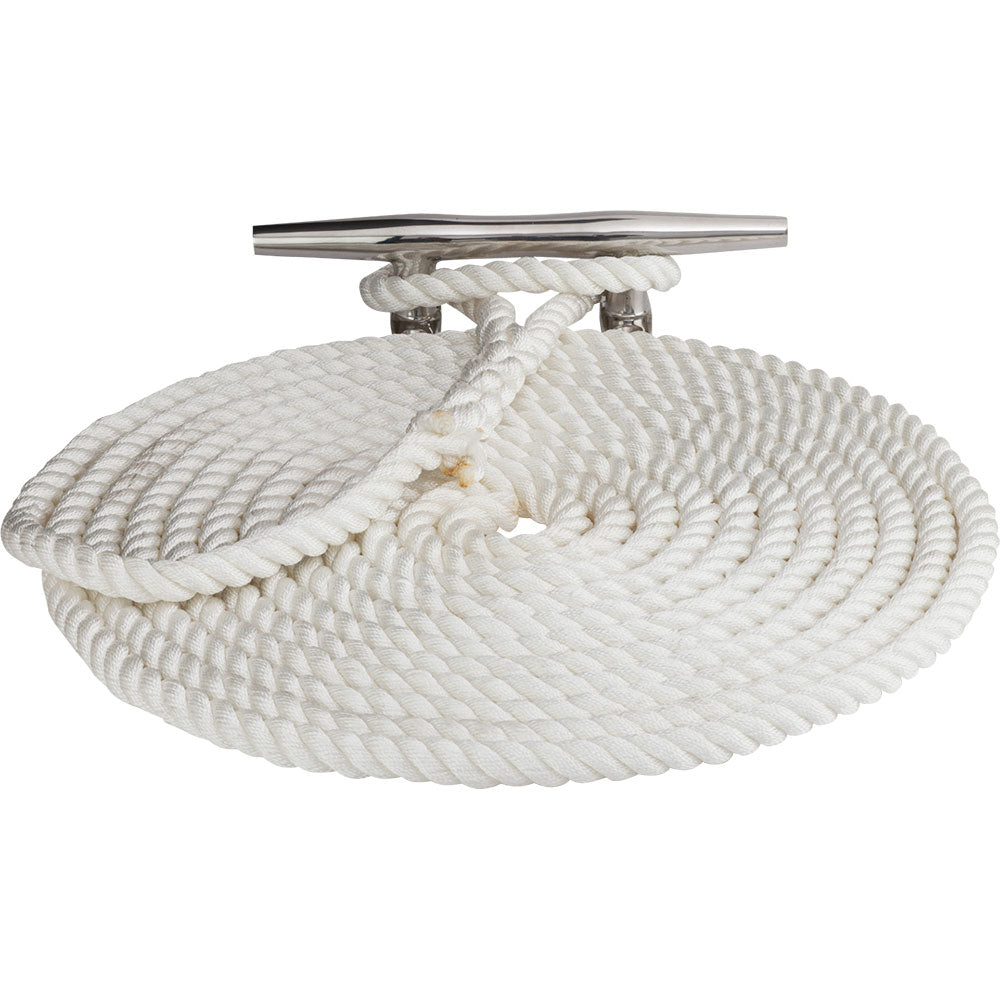 "Sea-Dog Twisted Nylon Dock Line - 3-8"" x 15 - White [301110015WH-1]"