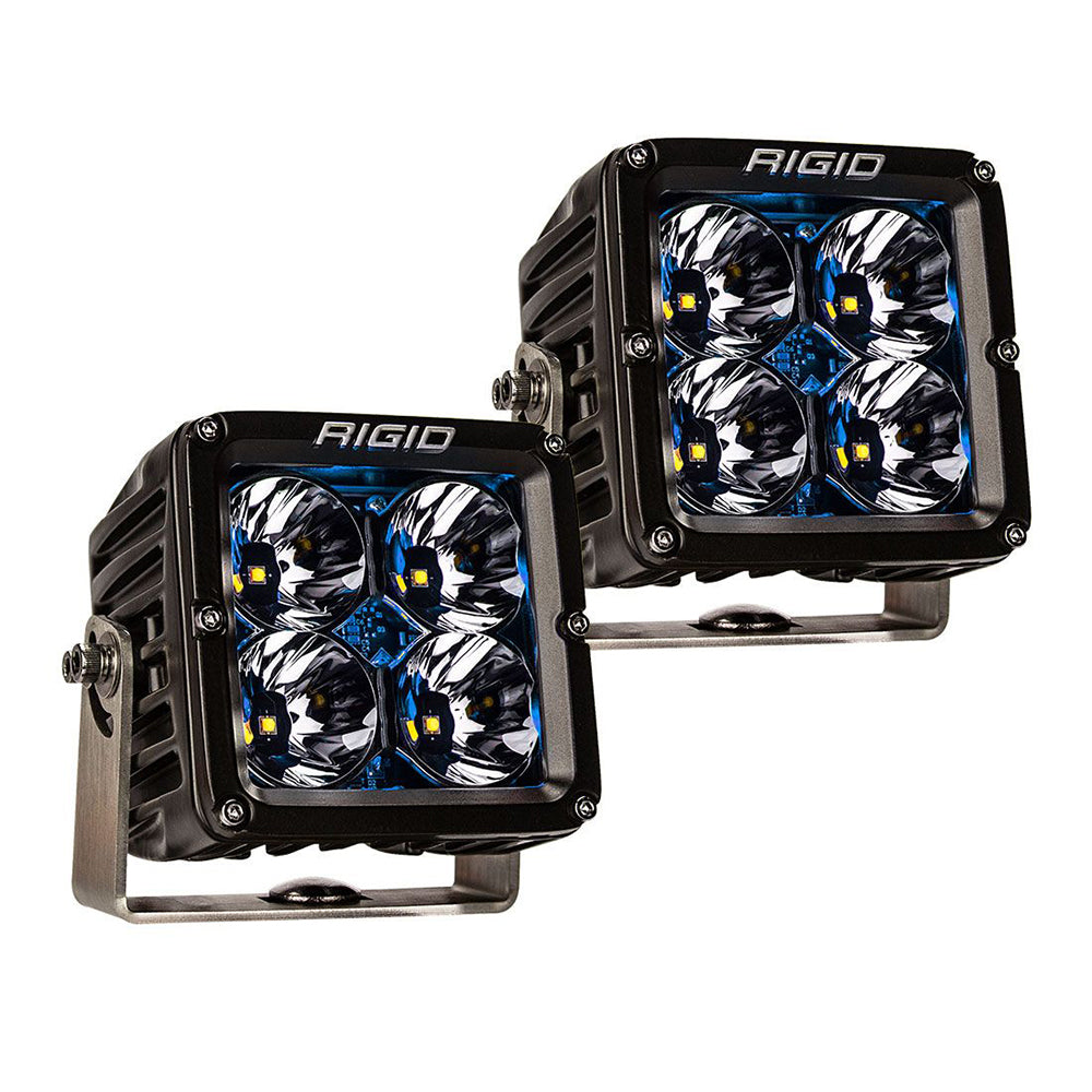 RIGID Industries Radiance Pod XL - Black Case w/Blue Backlight - Pair [32202]