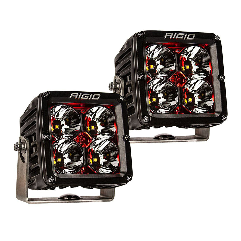 RIGID Industries Radiance Pod XL - Black Case w/Red Backlight - Pair [32203]