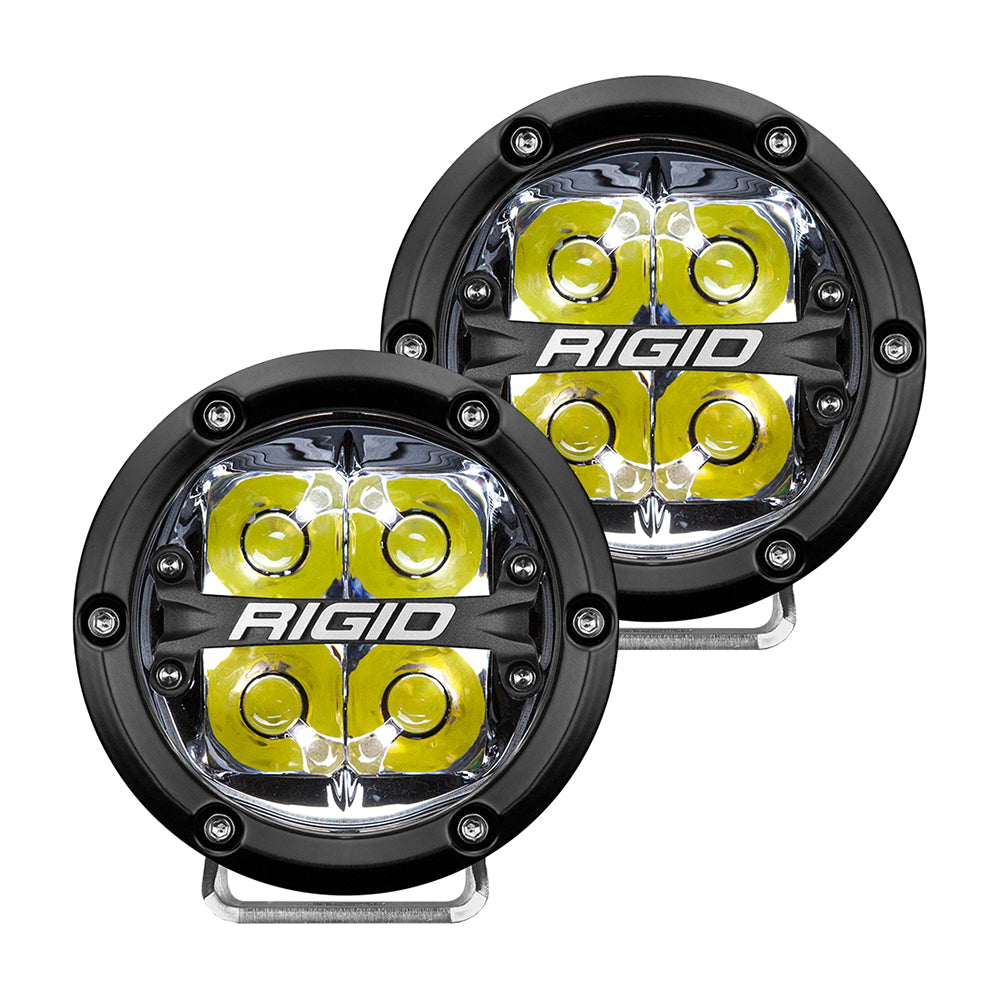 "RIGID Industries 360-Series 4"" LED Off-Road Spot Beam w/White Backlight - Black Housing [36113]"