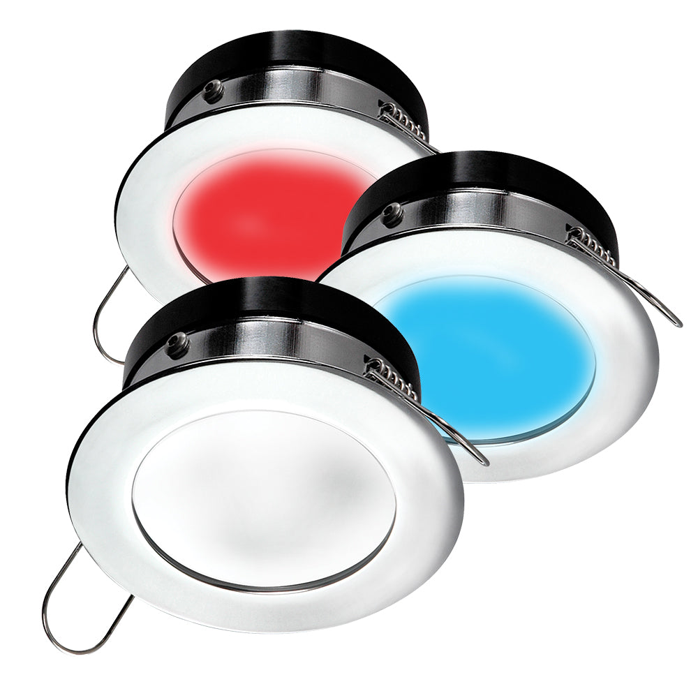 i2Systems Apeiron A1120 Spring Mount Light - Round - Red, Cool White  Blue - Brushed Nickel [A1120Z-41HAE]