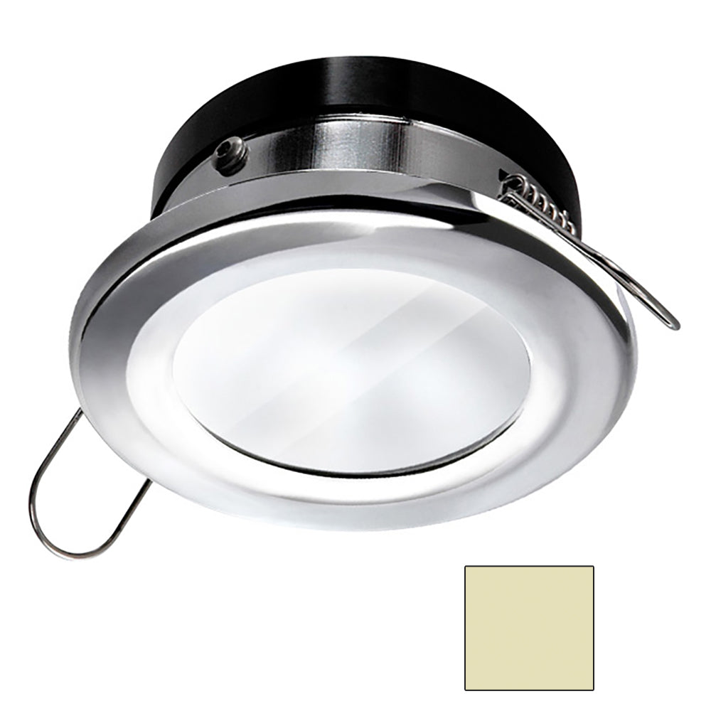 i2Systems Apeiron A1110Z - 4.5W Spring Mount Light - Round - Warm White - Chrome Finish [A1110Z-11CAB]