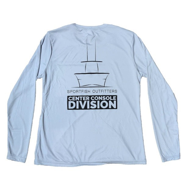 Center Console Division Mens Long Sleeve Performance Shirt