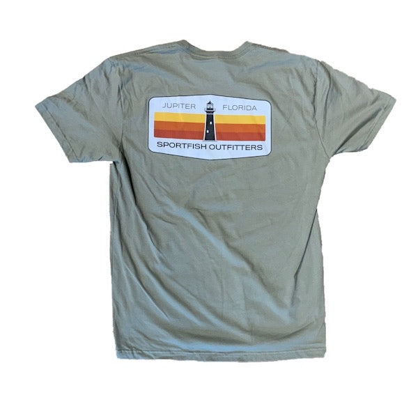 Jupiter Lighthouse Olive Green Shirt
