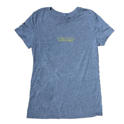 Sportfish Outfitters Women's Heather Gray - Bahamas Flag