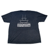 Sportfish Outfitters Soft Mens Charcoal Center Console Division T Shirt