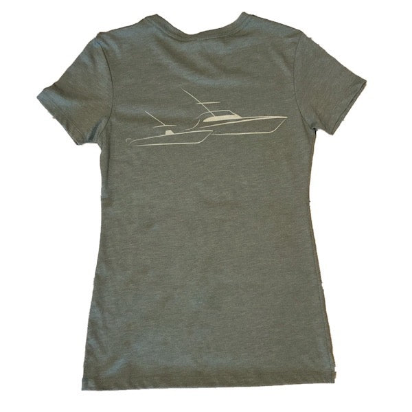Sportfish Outfitters Women's Military Green Boats Shirt