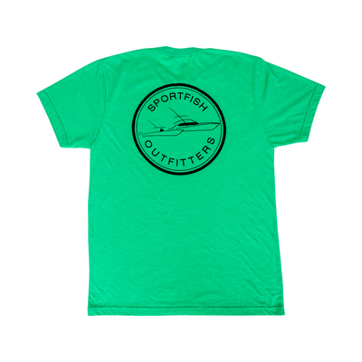 Sportfish Outfitters Super Soft Mens Lucky Green T Shirt