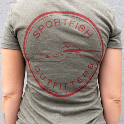 Sportfish Outfitters Super Soft Women's Olive Green Shirt