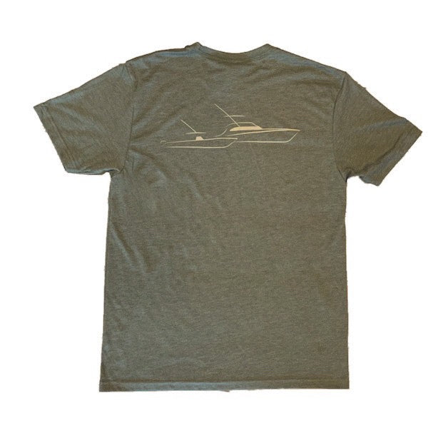 Sportfish Outfitters Mens Military Green Boats Only Shirt