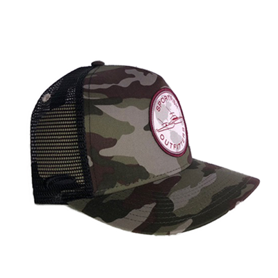 Sportfish Outfitters Camo/Black Curved Hat