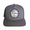 Sportfish Outfitters Globe Light Grey/Light Blue Curved Hat