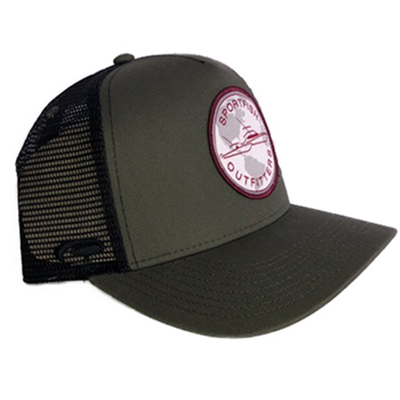 Sportfish Outfitters Globe Olive Curved Hat