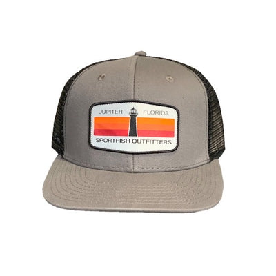 Lighthouse - Cotton Twill Charcoal / Black Adjustable Hat