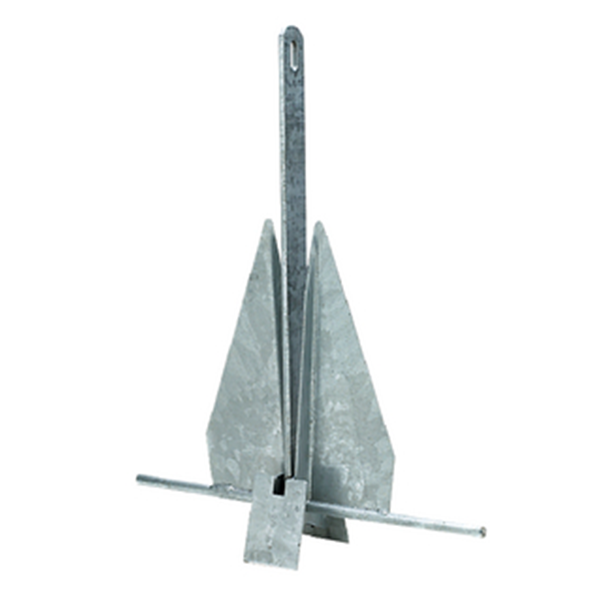 "Galvanized Anchor 22x18"" for a 17'-24' Boat"