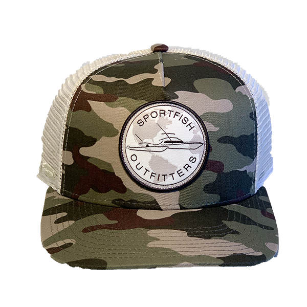 Sportfish Outfitters Camo/Tan Curved Hat