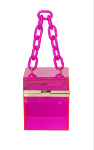 Clear Pink Purse