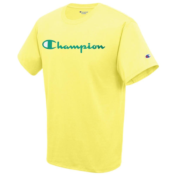 Champion T-Shirt Yellow Classic Print