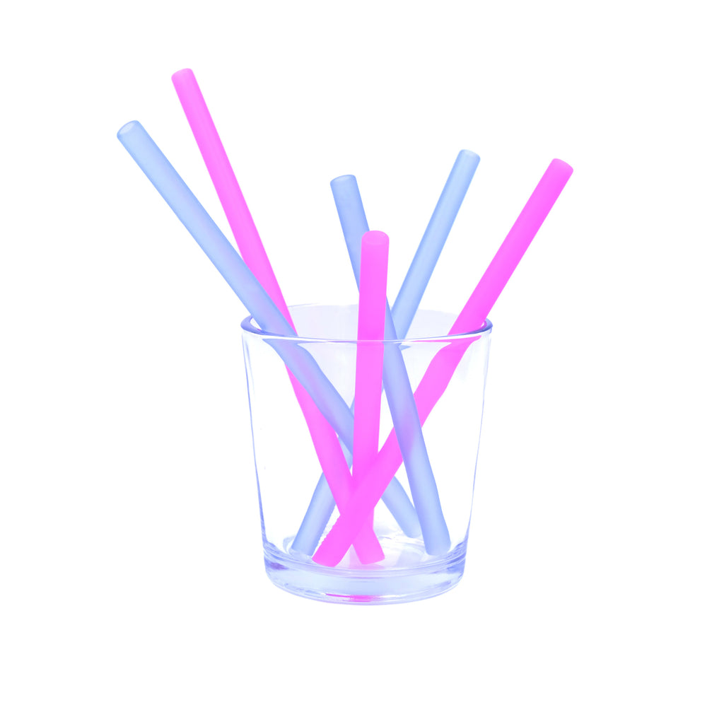 Silikids Family of Reusable Straws 6 pk. (2 Colors)
