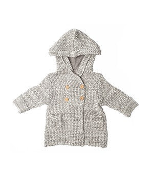 Beba Bean Crochet Knit Hoodie (2 Colors)