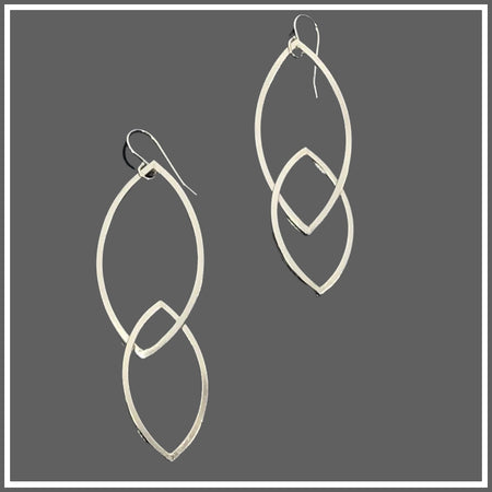 Argentium Silver Stacked Marquise Earrings by Marye Brenda