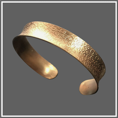 Bronze Anticlastic Majestic Slim Cuff