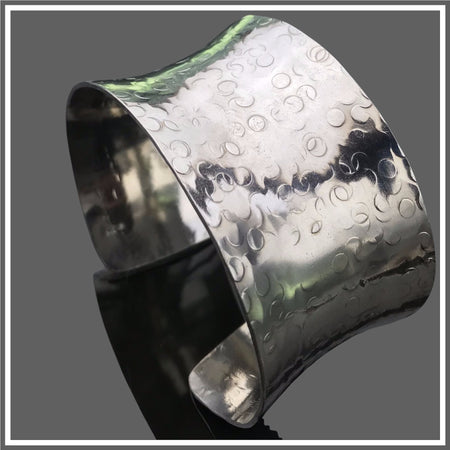 Sterling Silver Anticlastic Bubble Cuff