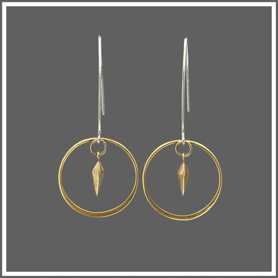 Silver Circle and Spike Earrings  Edit alt text